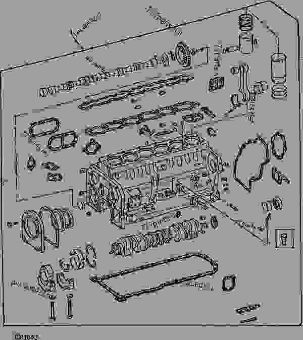 engine short block (without oil pump) [01b21] tractor john deere john deere 4630 with duals list of spare parts