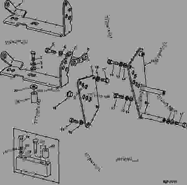 Hydraulic Controls Parts : Hydraulic control lever support h tractor john