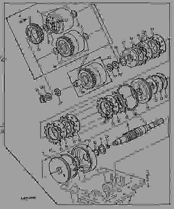 Parts scheme FWD MULTI - DISK CLUTCH - ENGINE, POWERTECH John Deere 5.9 L - ENGINE, POWERTECH - 6506, 6600 Tractors (European Edition) DRIVESYSTEMS FWD MULTI - DISK CLUTCH | 777parts