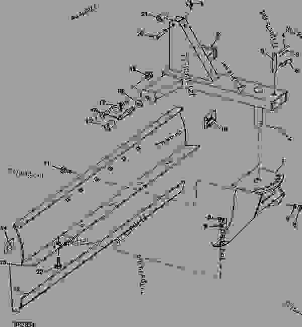 Parts scheme FRAME AND MOLDBOARD [A05] - BLADE John Deere 45 - BLADE - 45 Rear Blade FRAME AND MOLDBOARD [A05] | 777parts