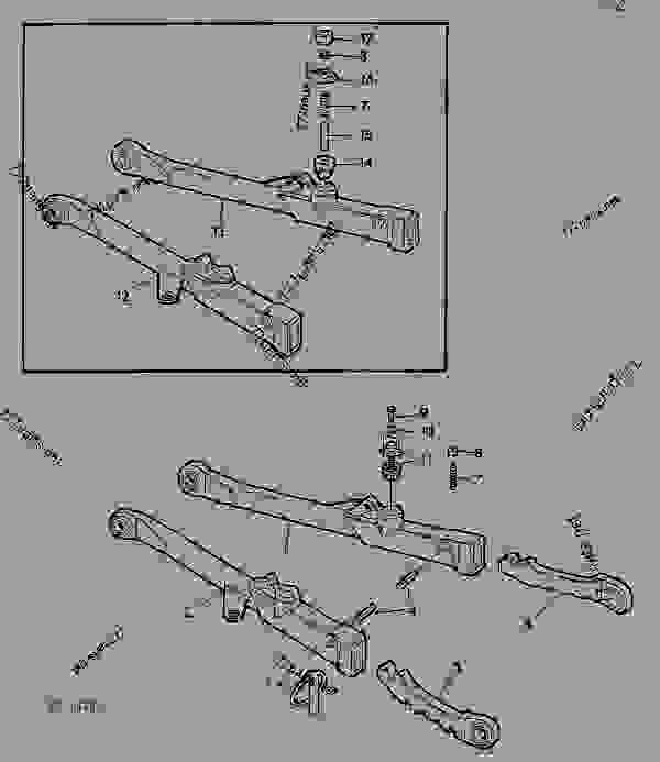 Parts scheme TELESCOPIC DRAFT LINKS [02C17] - TRACTOR John Deere 3135 - TRACTOR - 3135 (50000-) Tractor 70 HYDRAULIC SYSTEM TELESCOPIC DRAFT LINKS [02C17] | 777parts