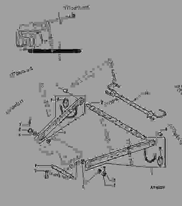 Parts scheme THREE POINT HITCH - TRACTOR John Deere 3029DAT01 - TRACTOR - 5300, 5400, 5500 Tractors (European Edition) HYDRAULICS THREE POINT HITCH | 777parts