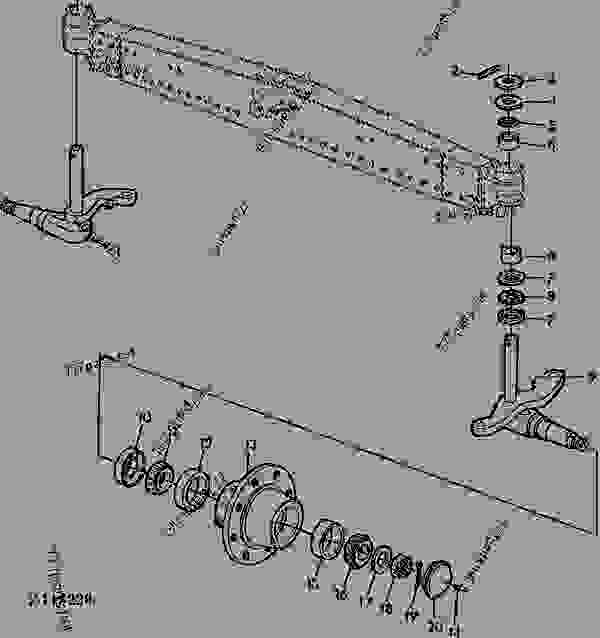 Parts scheme REAR AXLE SPINDLES [02E11] - COMBINE John Deere 4435 Hydro - COMBINE - 4435 and 4435 Hydro Combines 60 BRAKES, REAR AXLE REAR AXLE SPINDLES [02E11] | 777parts