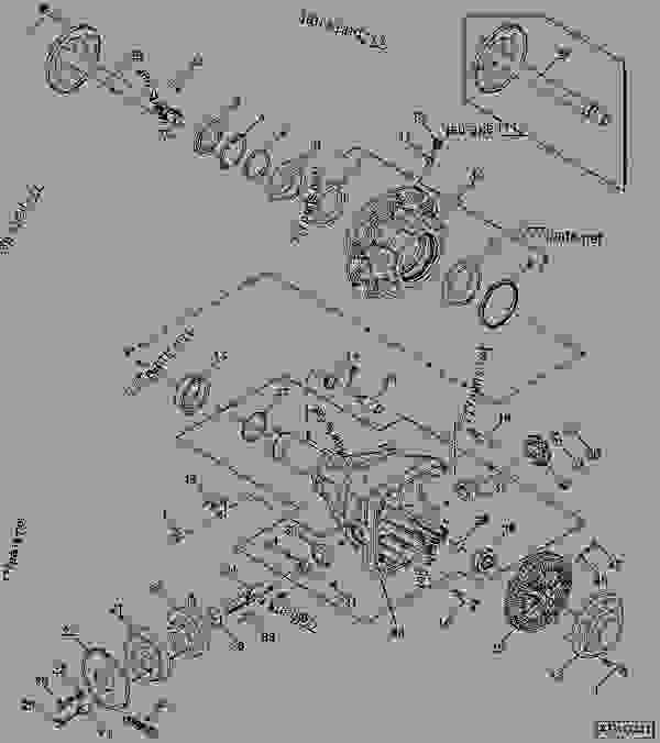 Parts scheme REAR AXLE SUPPORTS (LEFT-HAND ILLUSTRATED) - CART, COMMODITY John Deere 1910 - CART, COMMODITY - 1910 Commodity Air Cart DRIVES AND TRANSMISSIONS REAR AXLE SUPPORTS (LEFT-HAND ILLUSTRATED) | 777parts