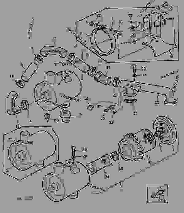 Parts scheme DRY AIR CLEANER [01C05] - TRACTOR John Deere 3135 - TRACTOR - 3135 (50000-) Tractor 30 FUEL SYSTEM AND AIR INTAKE SYSTEM DRY AIR CLEANER [01C05] | 777parts