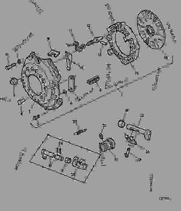 Parts scheme SINGLE CLUTCH [01F03] - TRACTOR John Deere 3135 - TRACTOR - 3135 (50000-) Tractor 50 POWER TRAIN SINGLE CLUTCH [01F03] | 777parts