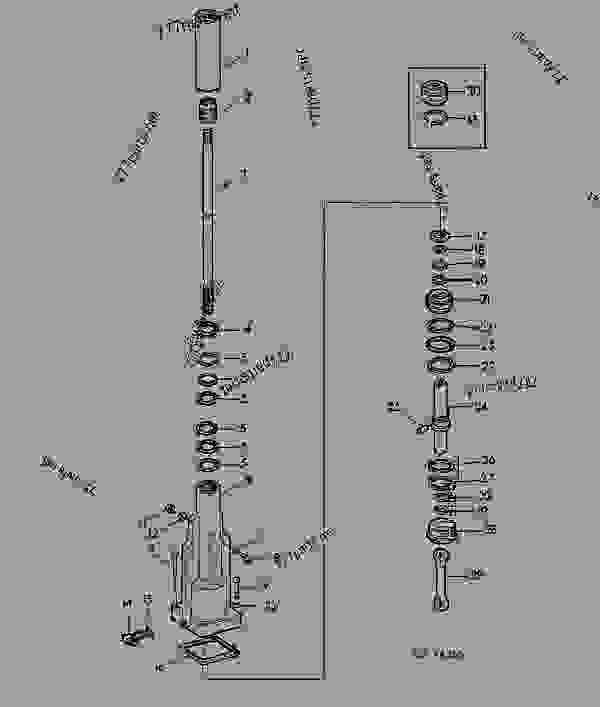 Parts scheme POWER STEERING [01I04] - TRACTOR John Deere 3135 - TRACTOR - 3135 (50000-) Tractor 60 STEERING SYSTEM AND BRAKES POWER STEERING [01I04] | 777parts