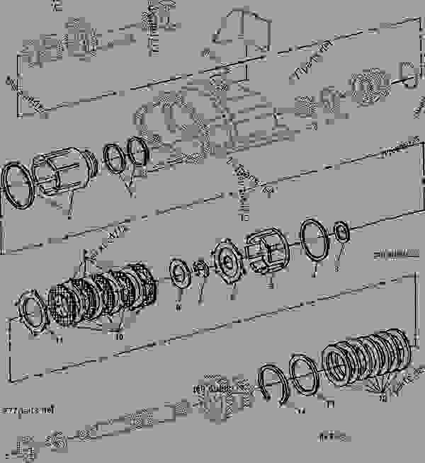 mechanical front wheel drive clutch piston and drum tractor john John Deere Lawn Mower Wiring Diagram john deere 4055 wiring schematic