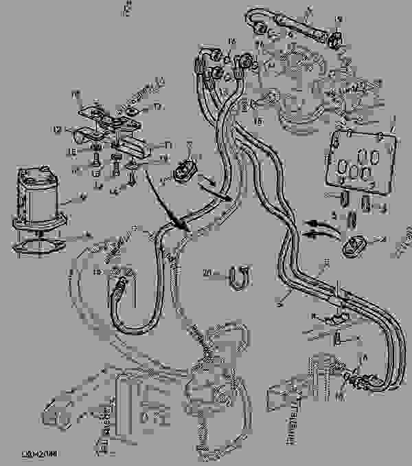 noise reduction kit tractor john deere 6405 tractor 6405 rh 777parts net john deere 410 backhoe wiring diagram john deere 4010 wiring diagram