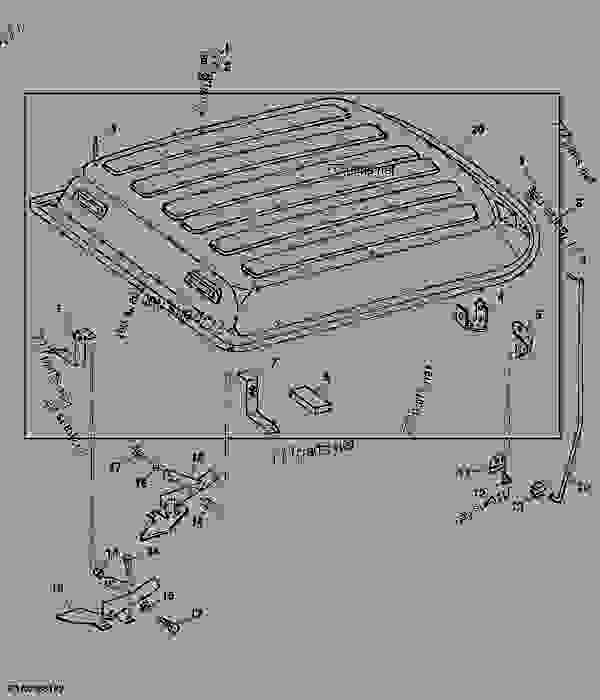Parts scheme ROOF (SGB) - TRACTOR John Deere 4455 - TRACTOR - 4055, 4255 and 4455 Tractors (North American Edition) OPERATOR'S STATION ROOF (SGB) | 777parts