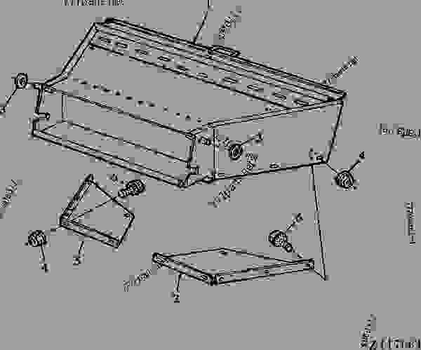 Parts scheme STRAW CHOPPER DISTRIBUTOR HOUSING [03K15] - COMBINE John Deere 4435 Hydro - COMBINE - 4435 and 4435 Hydro Combines 120 SEPARATOR STRAW CHOPPER DISTRIBUTOR HOUSING [03K15] | 777parts