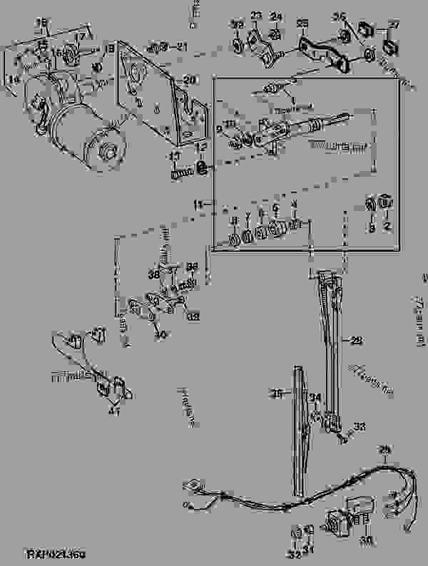 RIGHT-HAND WINDSHIELD WIPER AND MOTOR (WIPER MOTOR NO. AT66481) [02G11] -  TRACTOR John Deere 4640 - TRACTOR - 4640 and 4840 Tractors 40 ELECTRICAL  RIGHT-HAND WINDSHIELD WIPER AND MOTOR (WIPER MOTOR NO. AT66481) [02G11] |  777parts777parts