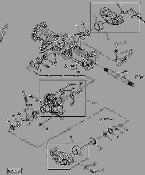 john deere rear axle diagram