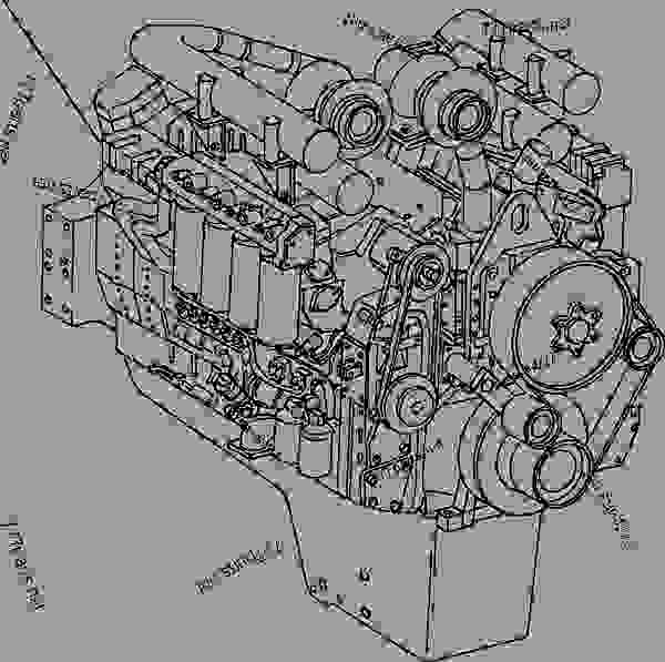 Parts scheme ENGINE ASSEMBLY - CHASSIS SERIAL NUMBER A10224, A10228-A10270, A10275-A10278 - Trucks Komatsu HD785-5LC - ENGINE | 777parts