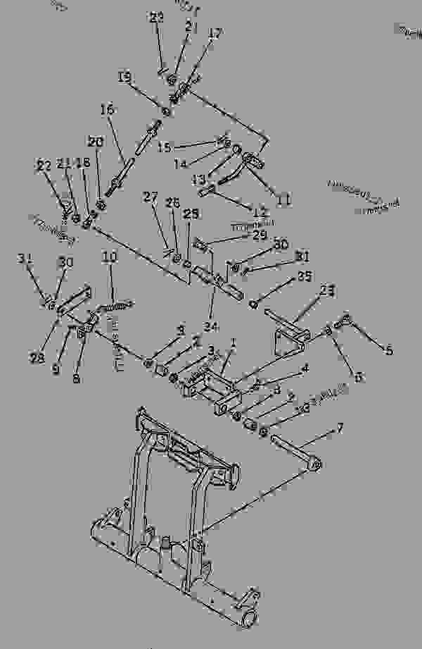 Parts scheme STEERING BRAKE PEDAL AND PARKING BRAKE LEVER (#1048-1052)(#1056-) - Bulldozer Komatsu D155S-1 - STEERING SYSTEM AND FINAL DRIVE | 777parts