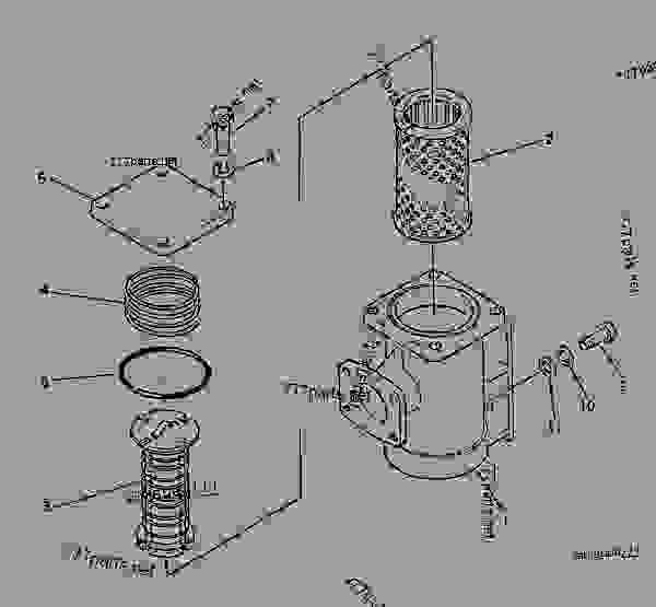 Parts scheme OIL STRAINER - Bulldozer Komatsu D155S-1 - STEERING SYSTEM AND FINAL DRIVE | 777parts