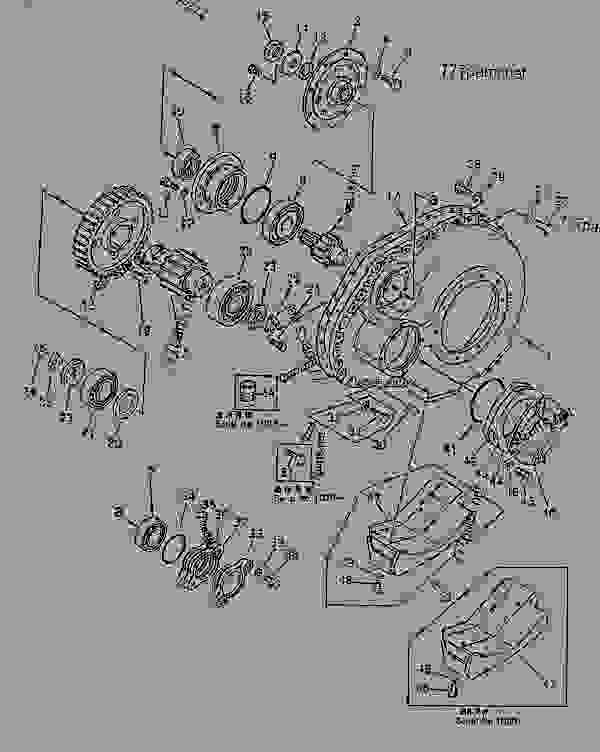 Parts scheme FINAL DRIVE CASE - Bulldozer Komatsu D155S-1 - STEERING SYSTEM AND FINAL DRIVE | 777parts
