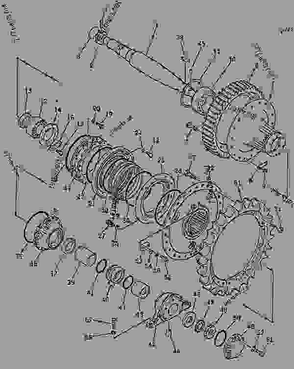 Parts scheme FINAL DRIVE GEAR AND SPROCKET - Bulldozer Komatsu D155S-1 - STEERING SYSTEM AND FINAL DRIVE | 777parts