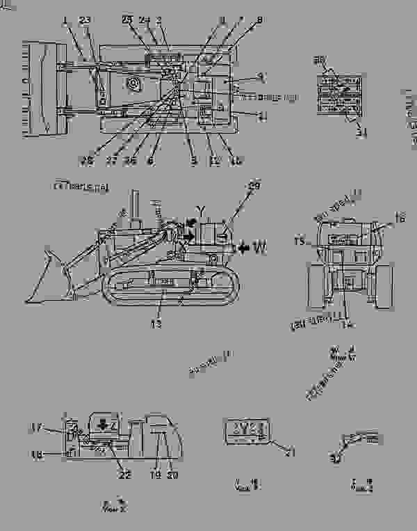 Parts scheme MARK AND PLATE (ENGLISH) (FOR SLAG HANDLING) - Bulldozer Komatsu D155S-1 - GUARD | 777parts