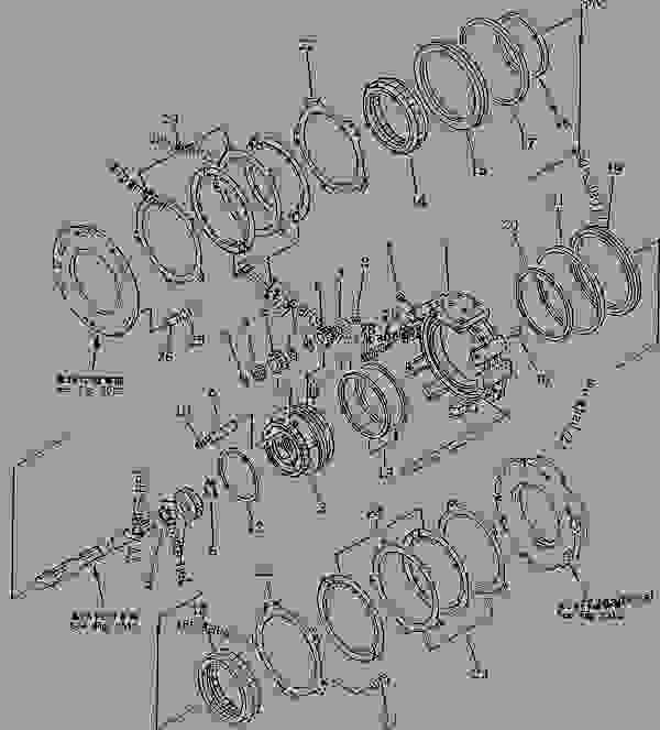 Parts scheme TRANSMISSION (F3-R3) (3/7) (FORWARD AND 3RD HOUSING) - Bulldozer Komatsu D21P-6 - MAIN CLUTCH?TRANSMISSION? STEERING AND FINAL DRIVE | 777parts