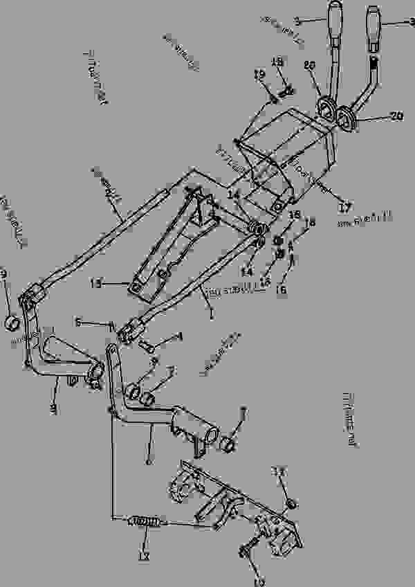 STEERING CONTROL LEVER (FOR LEVER STEERING) - Bulldozer