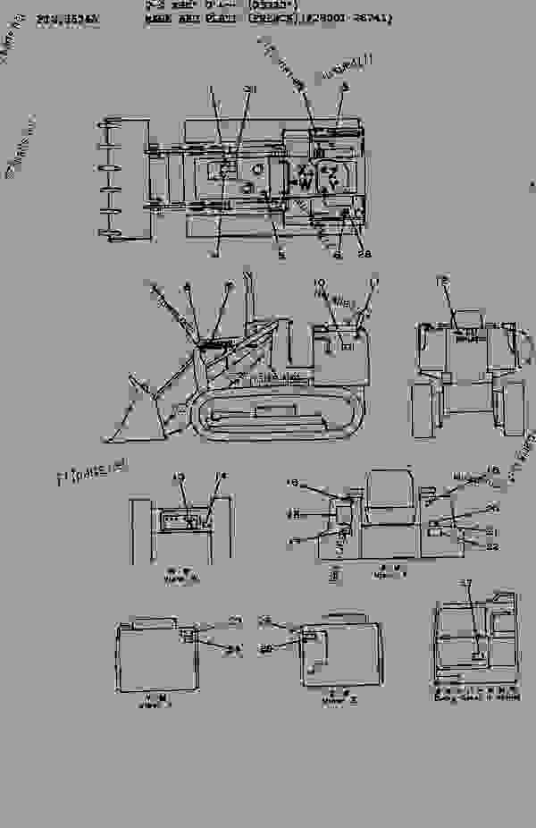 Parts scheme MARK AND PLATE (FRENCH)(#28001-28685) - Bulldozer Komatsu D31S-16 - GUARD | 777parts
