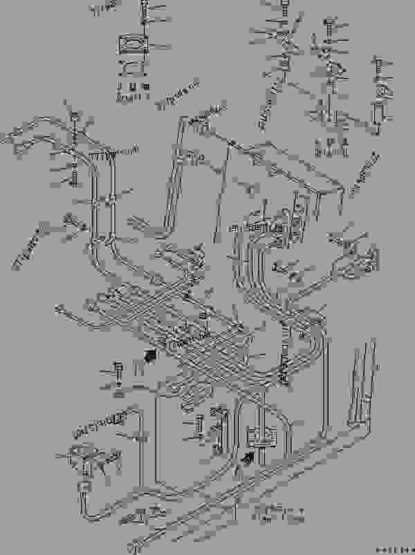 Parts scheme WIRING (FLOOR) - Bulldozer Komatsu D575A-3 - OPERATOR'S COMPARTMENT AND CONTROL SYSTEM | 777parts