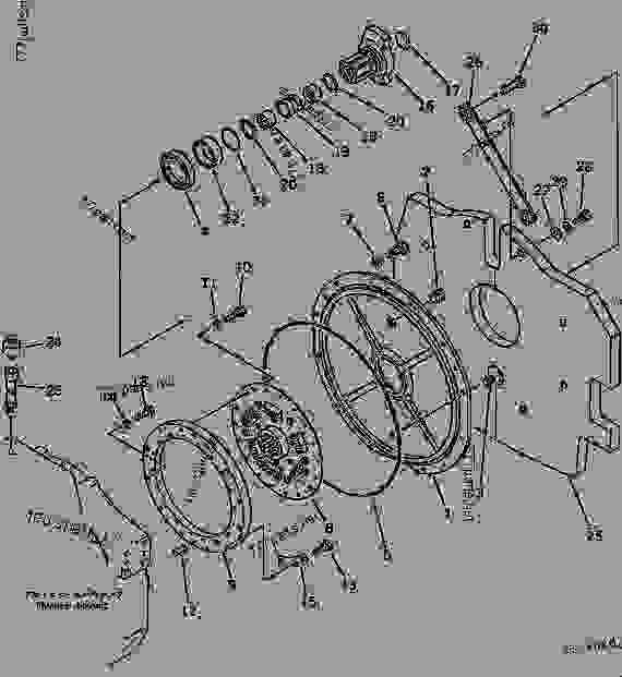 Parts scheme DAMPER (REGULATION OF EU DYNAMIC NOISE) - Bulldozer Komatsu D58E-1B - ENGINE RELATED PARTS | 777parts