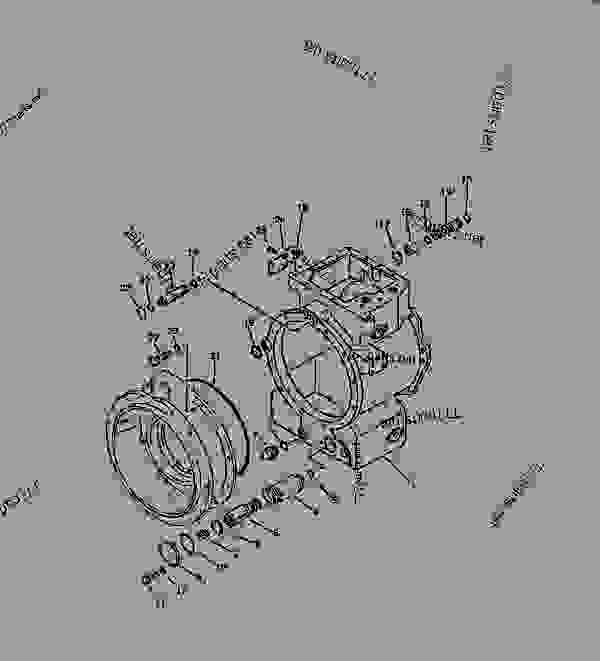 Parts scheme TRANSMISSION CASE - Bulldozer Komatsu D58E-1B - POWER TRAIN AND FINAL DRIVE | 777parts
