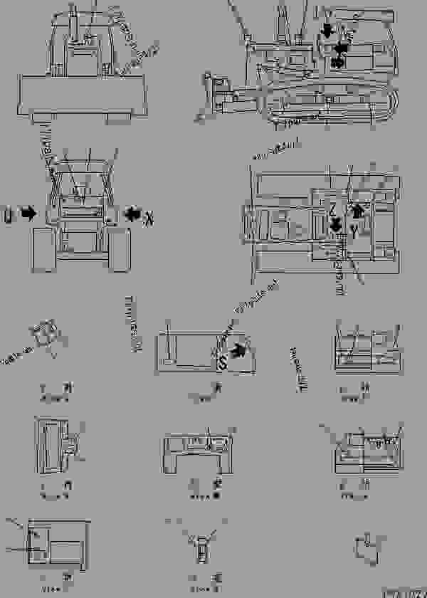 Parts scheme MARKS AND PLATES (SPANISH) (REGULATION OF EU DYNAMIC NOISE)(#82373-) - Bulldozer Komatsu D58E-1B - MARKS AND PLATES | 777parts