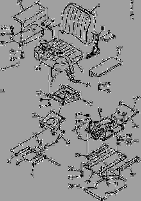 OPERATOR'S SEAT(W/OIL DAMPER?RECLINING DEVICE)(NOISE SUPPRESSION F