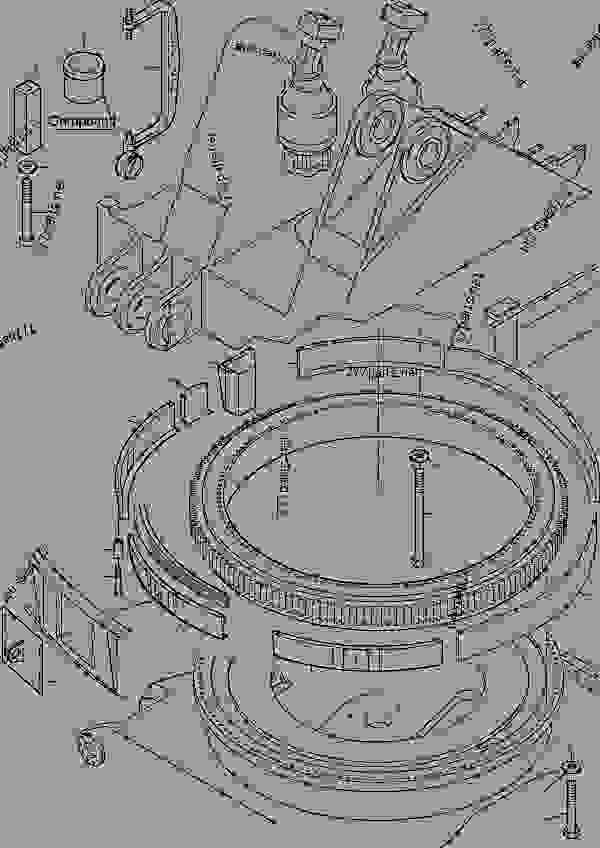 Parts scheme Slew ring arrangement (cold weather design) - Hydraulic Shovels Komatsu PC5500-6 - SLEW GEAR | 777parts