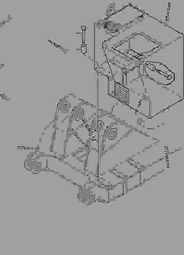 Parts scheme Operator's cab support,mount. - Hydraulic Shovels Komatsu H285S - OPERATOR'S CAB | 777parts