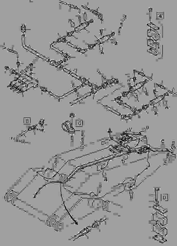 Parts scheme Boom (1-line) - Hydraulic Shovels Komatsu H285S - REFUELING- AND GREASE EQUIPMENT | 777parts