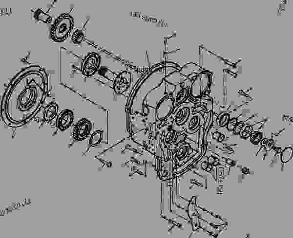 Parts scheme FRONT COVER - S/N 203507 THRU 203510 AND 203543 AND UP - Motor Grader Komatsu GD650A-2CY - POWER TRAIN AND FINAL DRIVE | 777parts