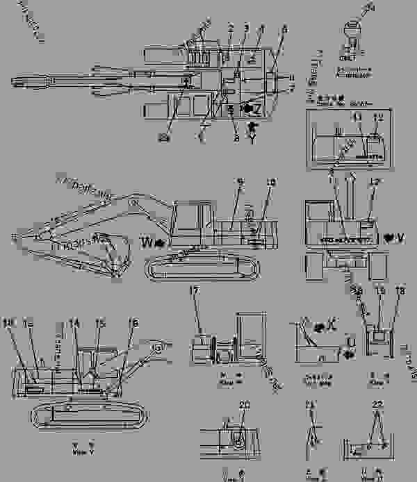 MARKS AND PLATES (CHASSIS SIDE) (ENGLISH) (KSP SPEC ) - Hydraulic