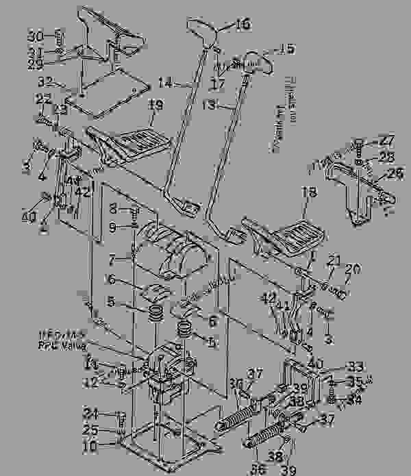 Parts scheme TRAVEL LEVER(#80001-83825) - Hydraulic Excavator Komatsu PC200LC-6-A - OPERATOR'S COMPARTMENT AND CONTROL SYSTEM | 777parts