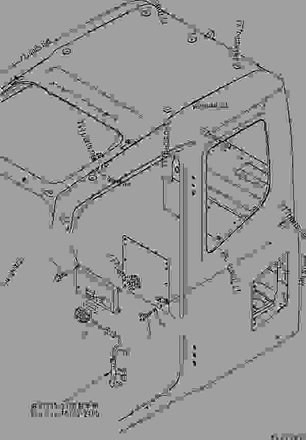 Parts scheme FLOOR FRAME (OPERATOR'S CAB) (KOMTRAX) - Hydraulic Excavator Komatsu PC350LC-7E0 - OPERATOR'S COMPARTMENT AND CONTROL SYSTEM | 777parts