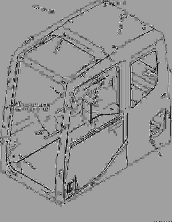 Parts scheme FLOOR FRAME (OPERATOR'S CAB) (CLAMP AND PLATE) (WITHOUT AIR CONDITIONER) - Hydraulic Excavator Komatsu PC400-7 - OPERATOR'S COMPARTMENT AND CONTROL SYSTEM | 777parts