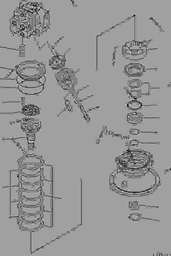 Parts scheme SWING MOTOR (2/3) - Hydraulic Excavator Komatsu PC400-7 - SERVICE KIT AND COMPONENT PARTS | 777parts