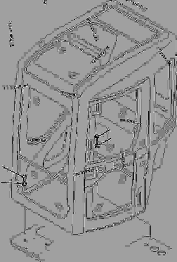 Parts scheme CABIN (MOUNTING PARTS) - Hydraulic Excavator Komatsu PC45R-8 - GUARD AND OPERATOR'S CAB | 777parts