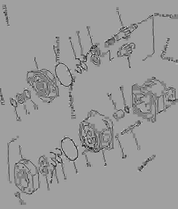 exploded view of forklift parts