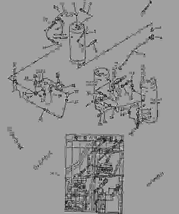 Parts scheme AIR PIPING (2/6) - Wheel Loader Komatsu WD600-1H - DRIVE SHAFT? DIFFERENTIAL AND WHEELS | 777parts