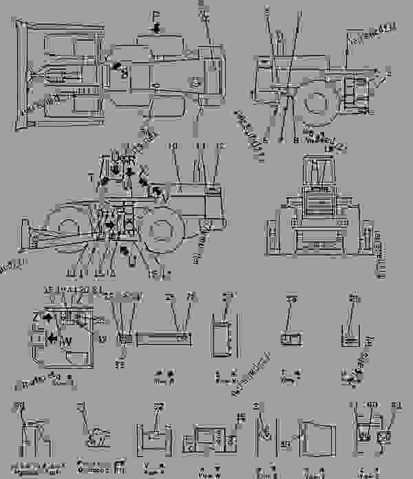 Parts scheme MARKS AND PLATES (RUSSIAN) - Wheel Loader Komatsu WD600-1H - MARK PLATE? TOOL AND KIT | 777parts