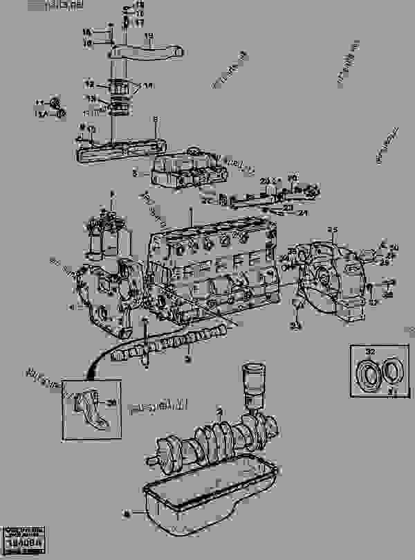 engine with fitting parts