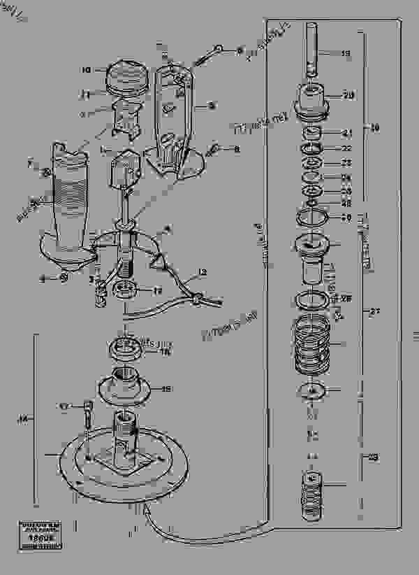 Parts scheme Valve section - Old products Volvo BM Volvo 4600B - Hydraulic system, digging/handling/grading equipm., misc. Equip. Mechanical equipment | 777parts