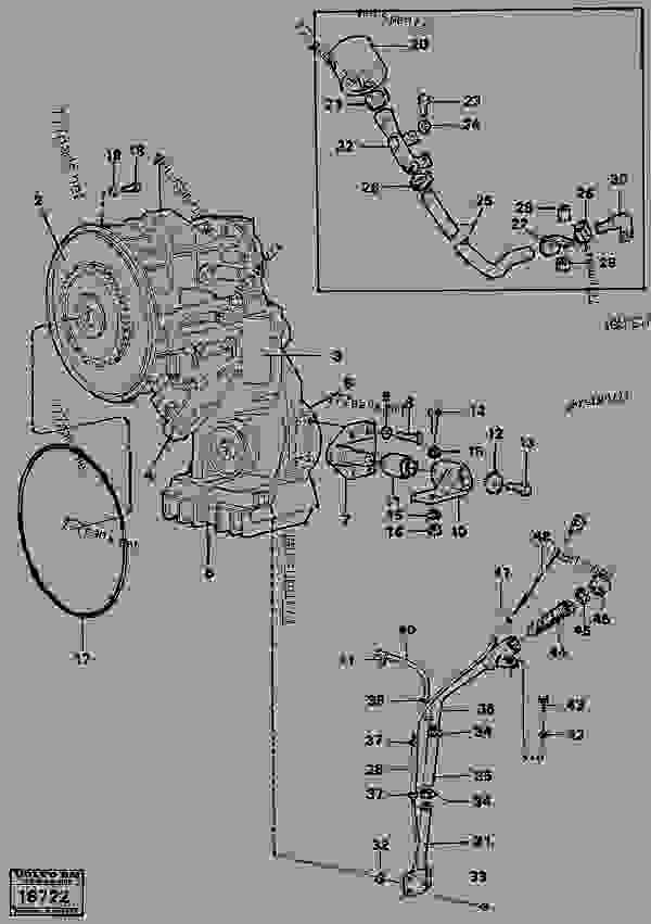 hydraulic transmission with fitting parts