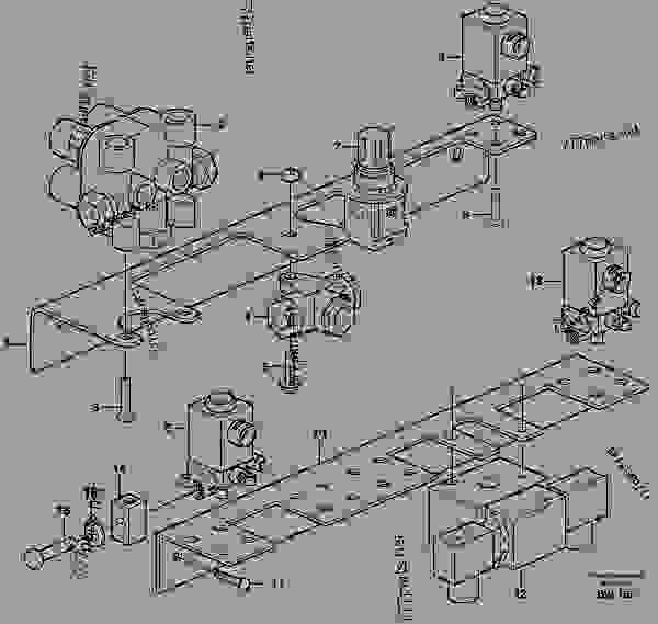 Brake valves with fitting parts - Articulated Haulers Volvo