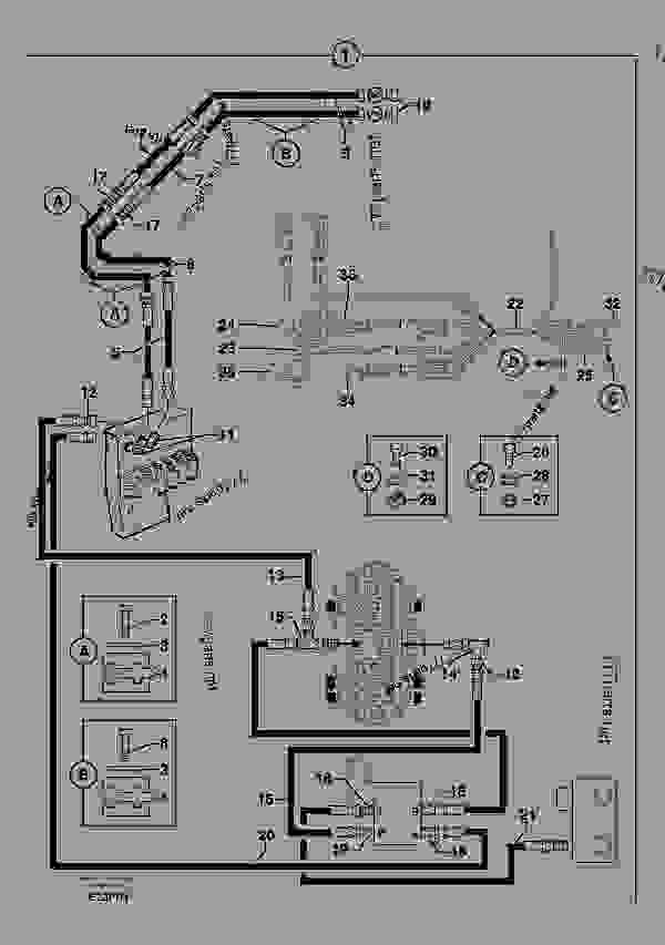 Parts scheme Hyd. circuit (quickfit/double-acting) - Excavators Volvo EC50 - Hydraulic system, digging/handling/grading equipm., misc. Equip. Mechanical equipment Attachment bracket | 777parts