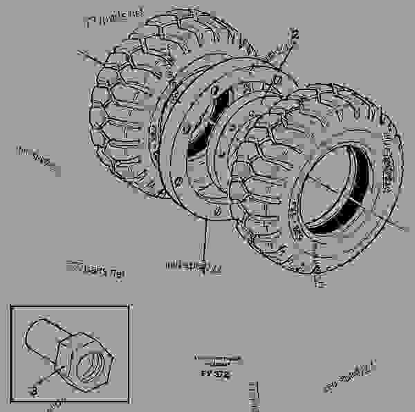 Parts scheme Stone guard ring - Excavators Volvo EW130C - Frame, springs, damping, axle suspension, wheels/track unit Wheels, tracks Wheel | 777parts